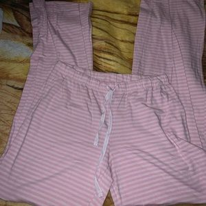 VS striped pink jammie pants